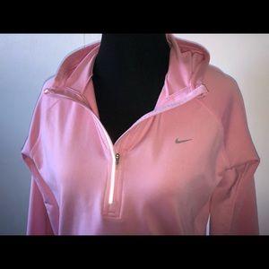 Nike Dry Fit Runner Hoodie- Soft Pink - M